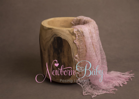 Plain Colour Lacey Wrap/Stuffer - LIGHT PINK